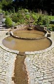 image of chalice  - The Vesica Pool in the Chalice Well Gardens in Glastonbury - JPG