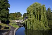 stock photo of avon  - The river Avon flowing through Bath in Somerset - JPG