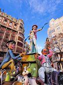 Las Fallas, Valencia, España