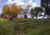 picture of split rail fence  - FRANCONIA NH  - JPG