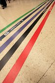 Direction lines on train station