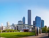 Jay Pritzker Pavilion In Millennium Park In Chicago