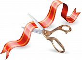 Scissor And Ribbon