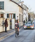 The Cyclist Andreas Kl�den- Paris Nice 2013 Prologue In Houilles