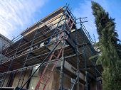 Scaffolding For Old Building