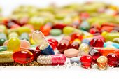 pic of antibiotics  - various pills - JPG