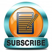 Subscribe here online pen and paper free subscription and membership for newsletter or blog join tod
