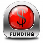 funding red icon fund raising for charity money donation for non profit organization