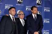 SANTA BARBARA - FEB 6:  Jonah Hill, Martin Scorsese, Leonardo DiCpario at the SBIFF Honors Scorsese