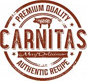 Authentic Mexican Carnitas Menu Stamp