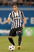 LOS ANGELES - AUGUST 3: Juventus D Martin Caceres during the 2013 Guinness International Champions C