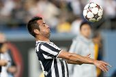 LOS ANGELES - AUGUST 3: Juventus M Mauricio Isla during the 2013 Guinness International Champions Cu