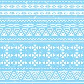 Tribal geometric aztec pattern - grunge, retro style