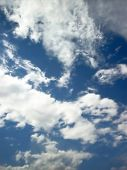 Clouds And Blue Sky poster