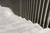 Weathered Staircase And Hand Railings
