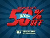 Sale 50% text