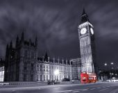 Big Ben And Red Double Decker Bus