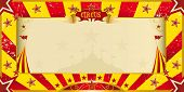 stock photo of cabaret  - A circus yellow and red invitation for your show - JPG