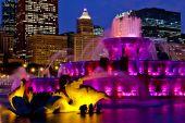 chicago buckingham fountain at night 95363