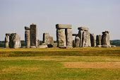 stock photo of stonehenge  - The magnificent Stonehenge still stands in the country side of Wiltshire - JPG