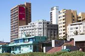 View Of Residential Complexes On Beachfront In Durban South Africa