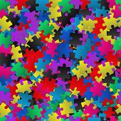 Abstract Background With Colorful Puzzles