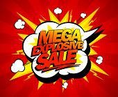 stock photo of bomb  - Mega explosive sale design - JPG