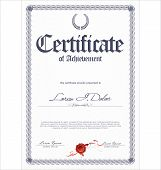 stock photo of certificate  - Elegant certificate or diploma  template - JPG
