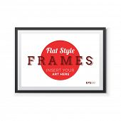 Flat style Poster Frame with transparent shadows.