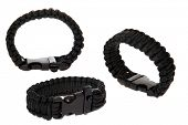 Genuine Black Para shoot Cord Survival Bracelets. Survival Bracelets AKA Wrist Bands are perfect for