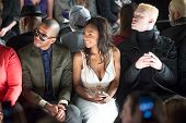 NEW YORK-FEB 7: (L-R) Eric West, Tashiana Washington and Shaun Ross attend the Academy of Art Univer