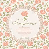 Vintage background with beautiful pattern of roses.