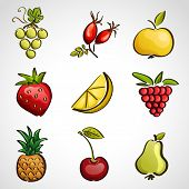 Icons - Different Fruits And Berries