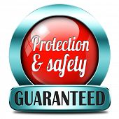protection and safety first red label or sign protect data privacy and personal info security guaran