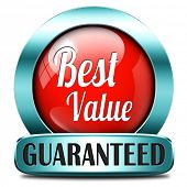 best value for the money web shop red icon or online promotion button, sticker or sign for internet