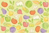 Seamless vegetable background
