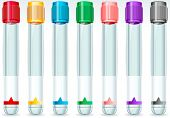 Cap Tube Set In Seven Colours