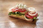Healthy Eating  Alfalfa Salad And Wheat Bread