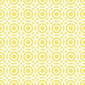 retro multiple white circles in rows on yellow seamless pattern