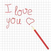 declaration of love and pencil