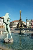 The Arion Fountain at Upper Square in Olomouc, Czech Republic