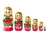 picture of doll  - A russian matryoshka doll on a white background - JPG