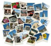 Stack Of old Shots With Central And Eastern Europe Landmarks poster