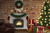 Interior Of Living Room In Christmas - Shot 03