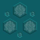 Infographic - hexagonal shapes