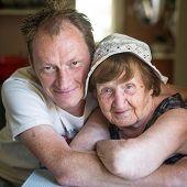 Grandmother and grandson.