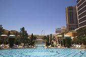 The pool at The Wynn Encore Casino in Las Vegas