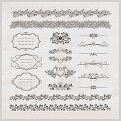 Page decoration borders  frames and hearts