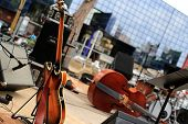 foto of double-bass  - Guitar and musical instruments, musical performance, background