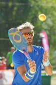 MOSCOW, RUSSIA - JULY 20, 2014: Alessandro Calbucci of Italy in the final match against Brazil durin